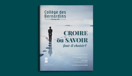 Nouvelle maquette pour le magazine du Collège des Bernardins